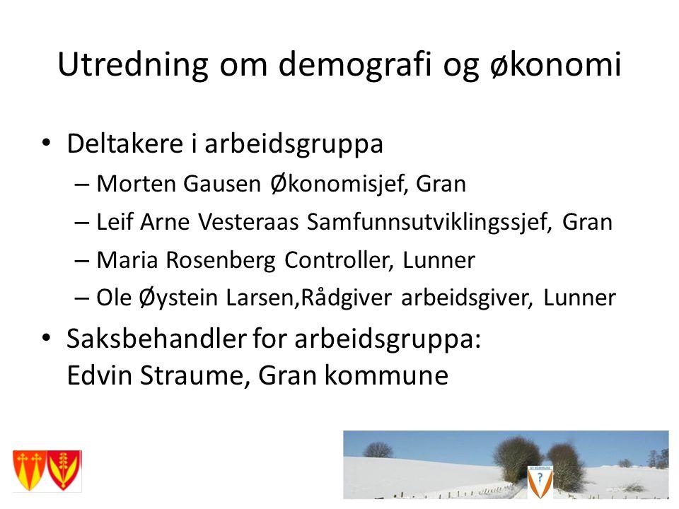 Utredning om demografi og økonomi