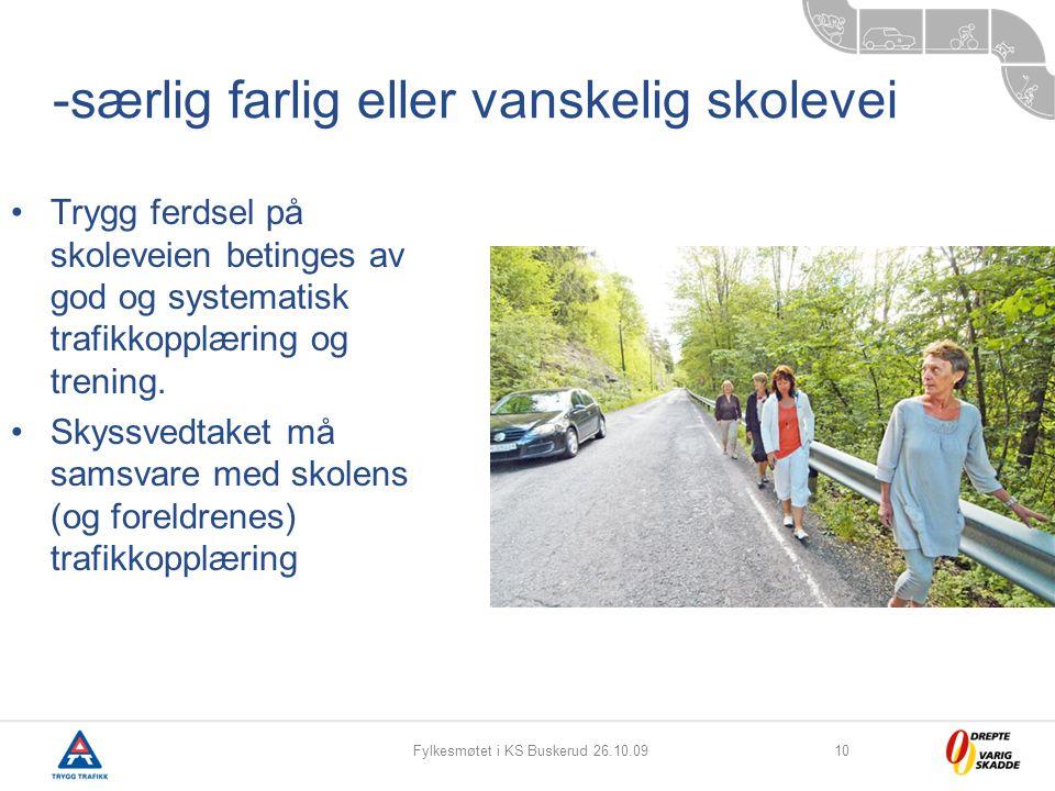 -særlig farlig eller vanskelig skolevei