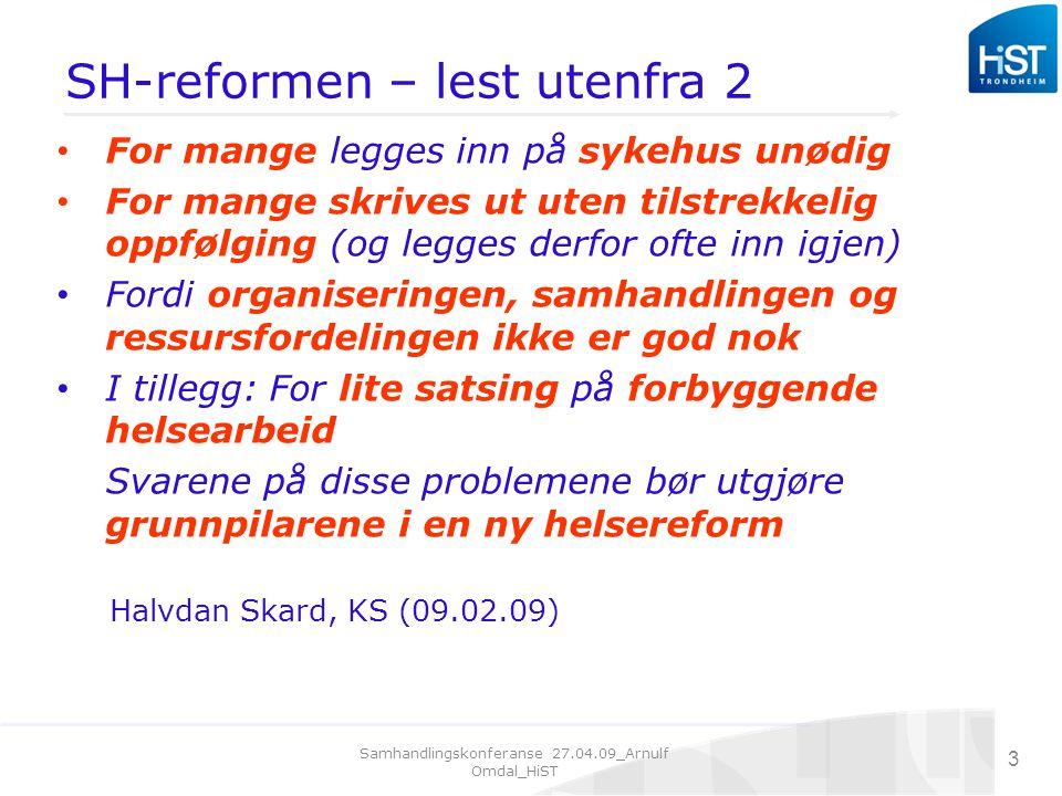SH-reformen – lest utenfra 2