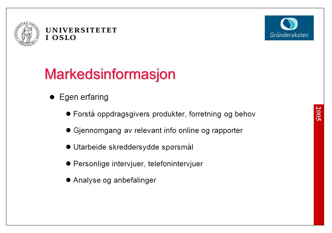 Markedsinformasjon Internet, publikasjoner, rapporter