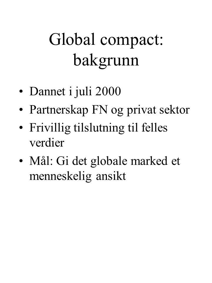 Global compact: bakgrunn