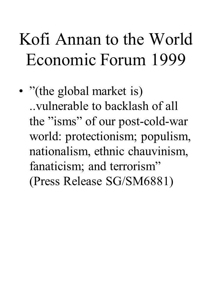 Kofi Annan to the World Economic Forum 1999