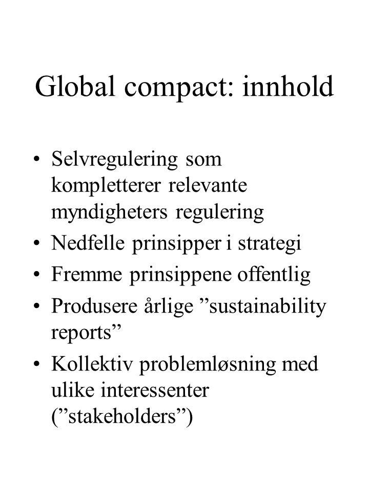 Global compact: innhold
