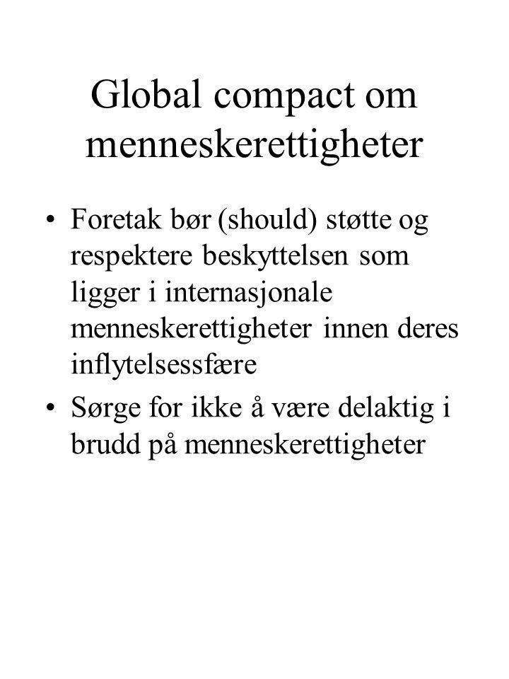 Global compact om menneskerettigheter