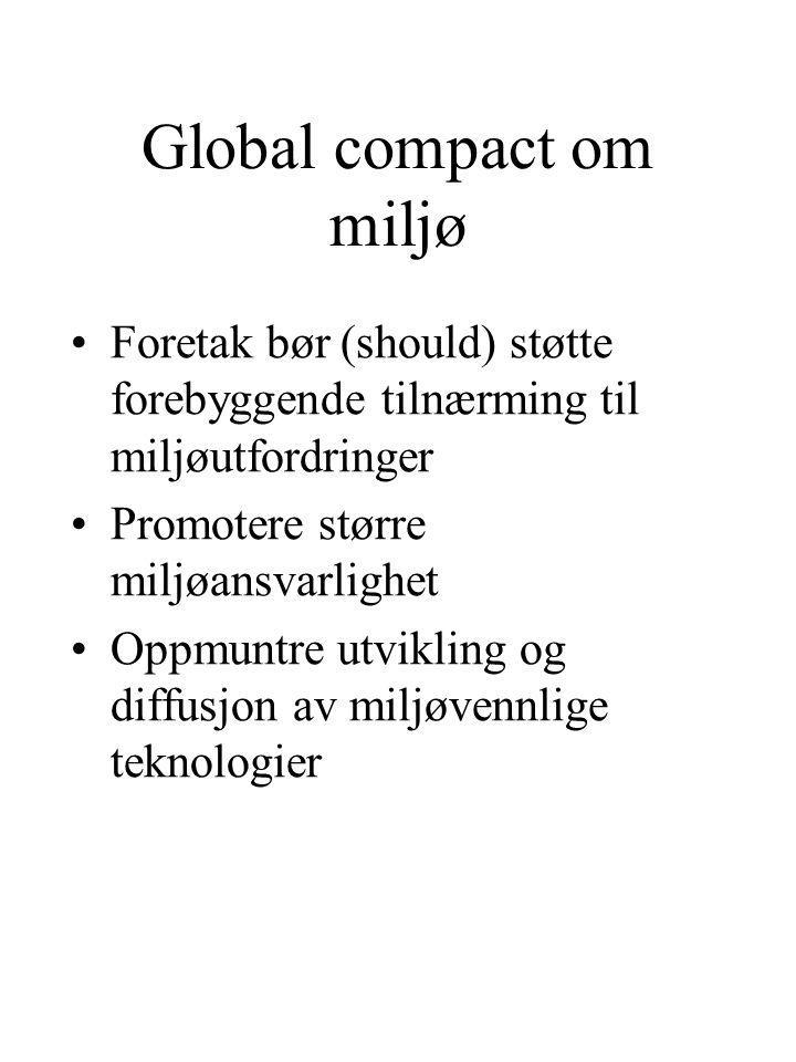Global compact om miljø