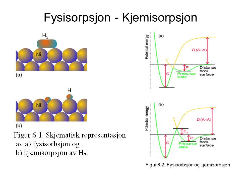Fysisorpsjon - Kjemisorpsjon