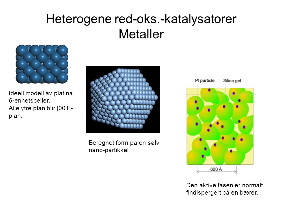 Heterogene red-oks.-katalysatorer Metaller