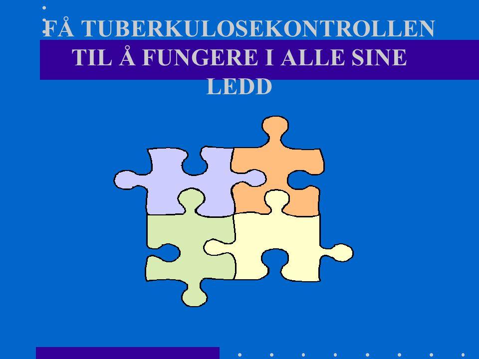 FÅ TUBERKULOSEKONTROLLEN TIL Å FUNGERE I ALLE SINE LEDD