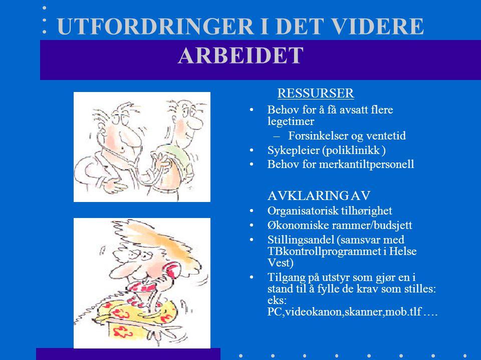 UTFORDRINGER I DET VIDERE ARBEIDET