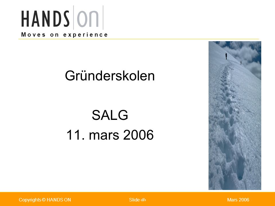 Gründerskolen SALG 11. mars 2006