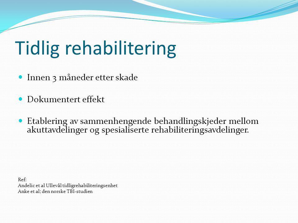 Tidlig rehabilitering