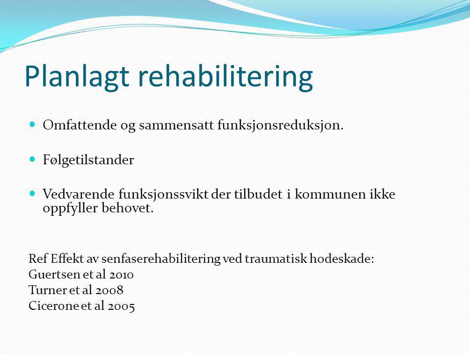 Planlagt rehabilitering