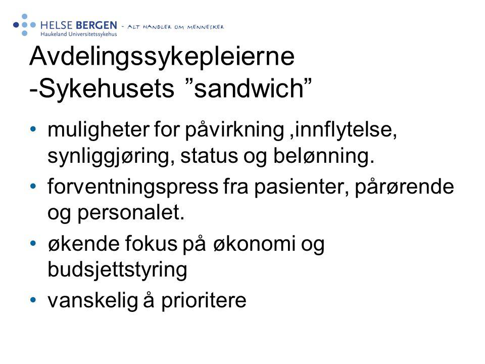 Avdelingssykepleierne -Sykehusets sandwich