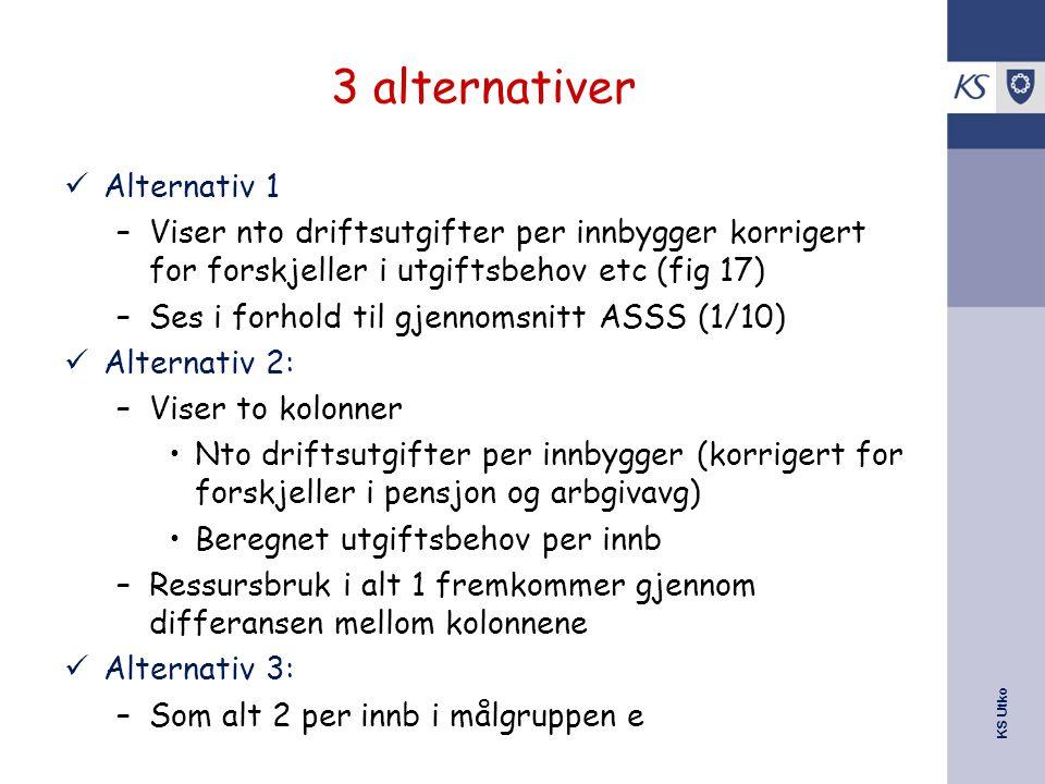3 alternativer Alternativ 1