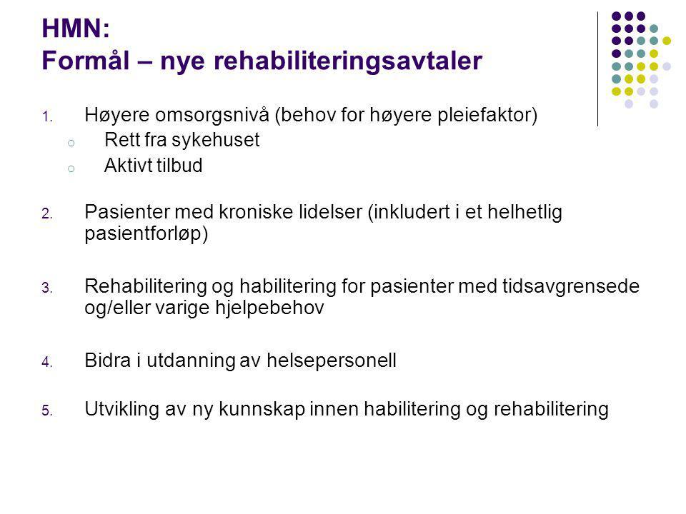 HMN: Formål – nye rehabiliteringsavtaler