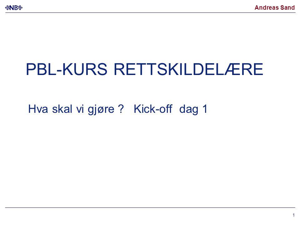 PBL-KURS RETTSKILDELÆRE