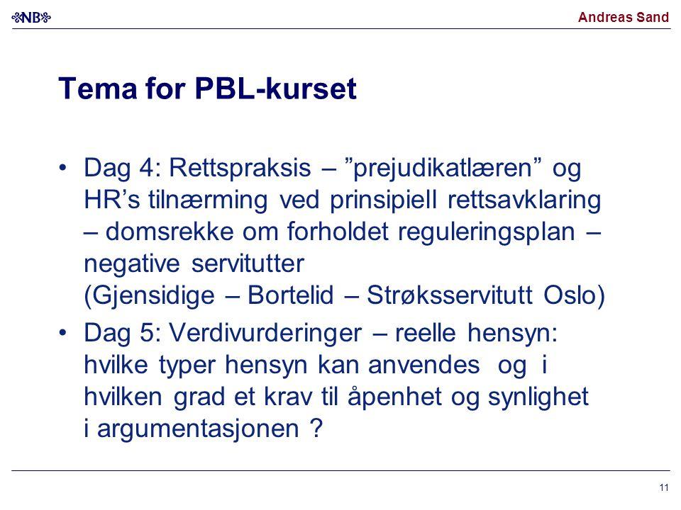 Tema for PBL-kurset