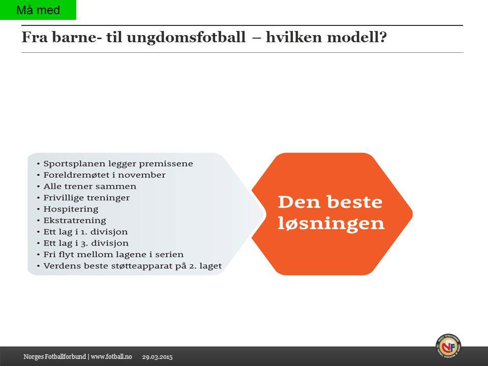 Fra barne- til ungdomsfotball – hvilken modell