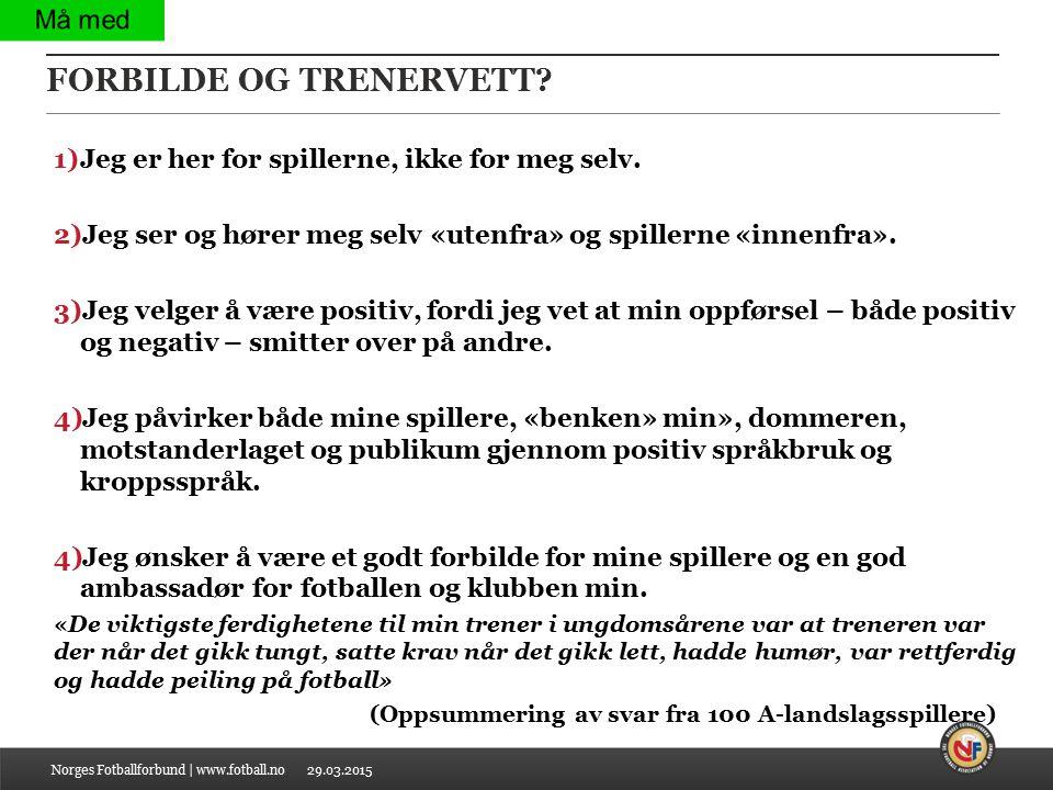 FORBILDE OG TRENERVETT