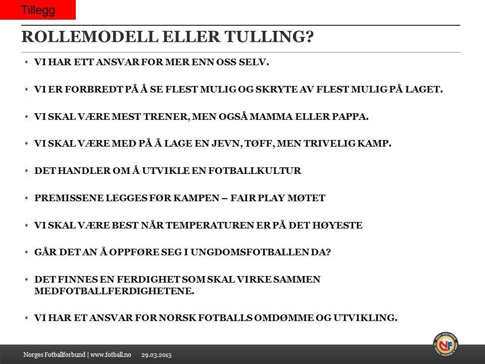 ROLLEMODELL ELLER TULLING