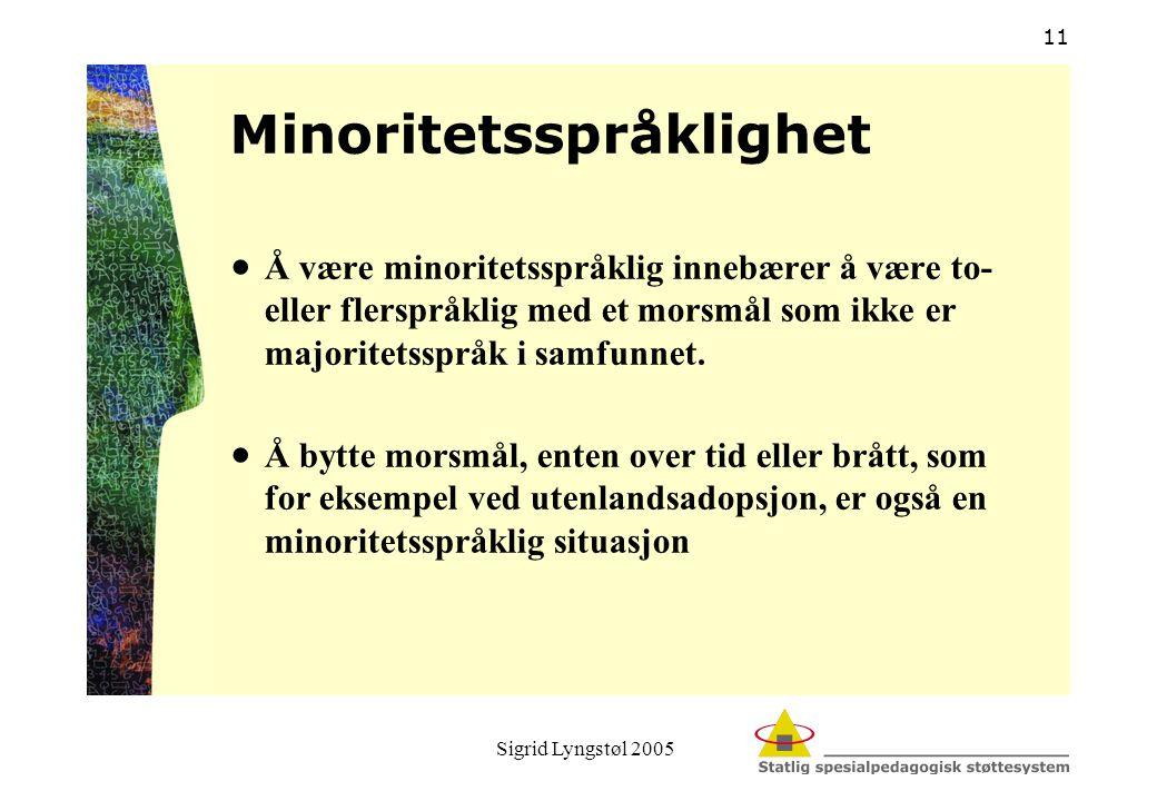 Minoritetsspråklighet
