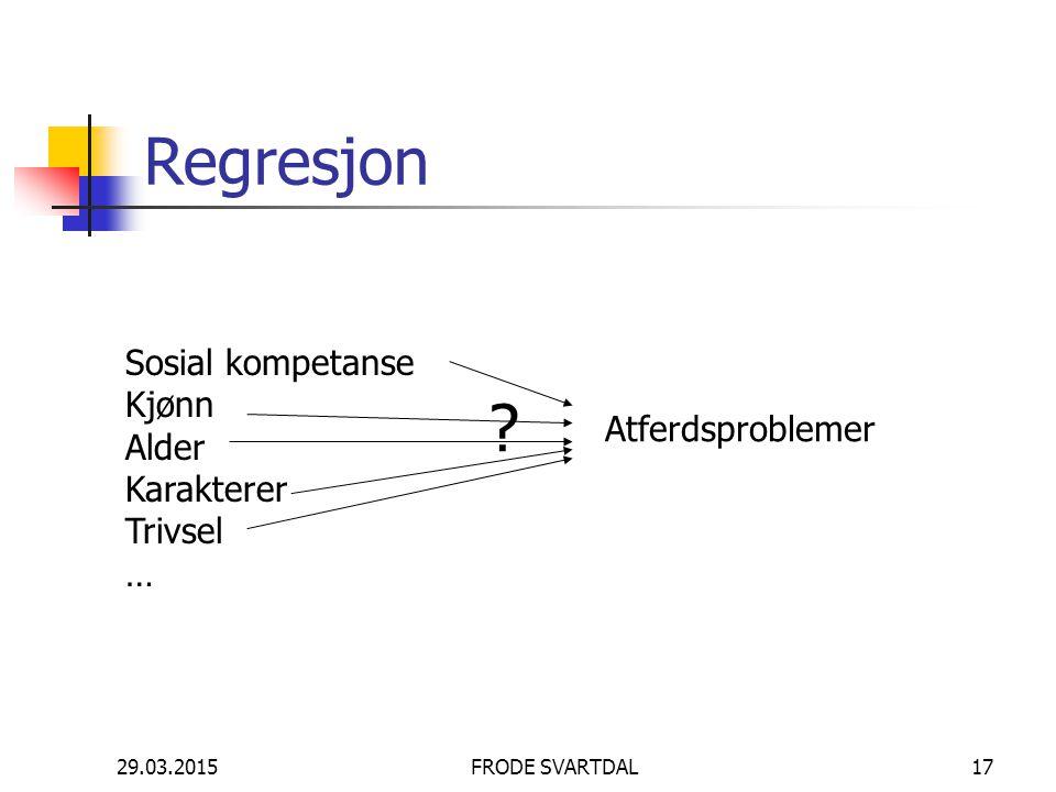 Regresjon Sosial kompetanse Kjønn Alder Karakterer Atferdsproblemer