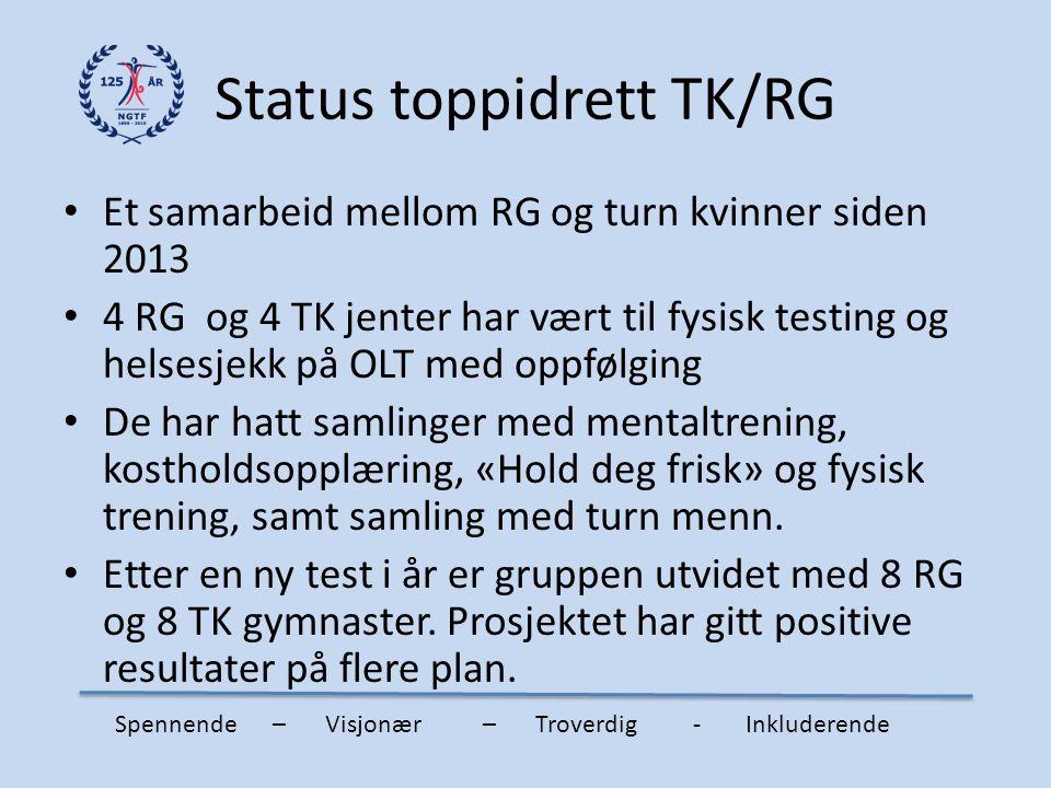 Status toppidrett TK/RG
