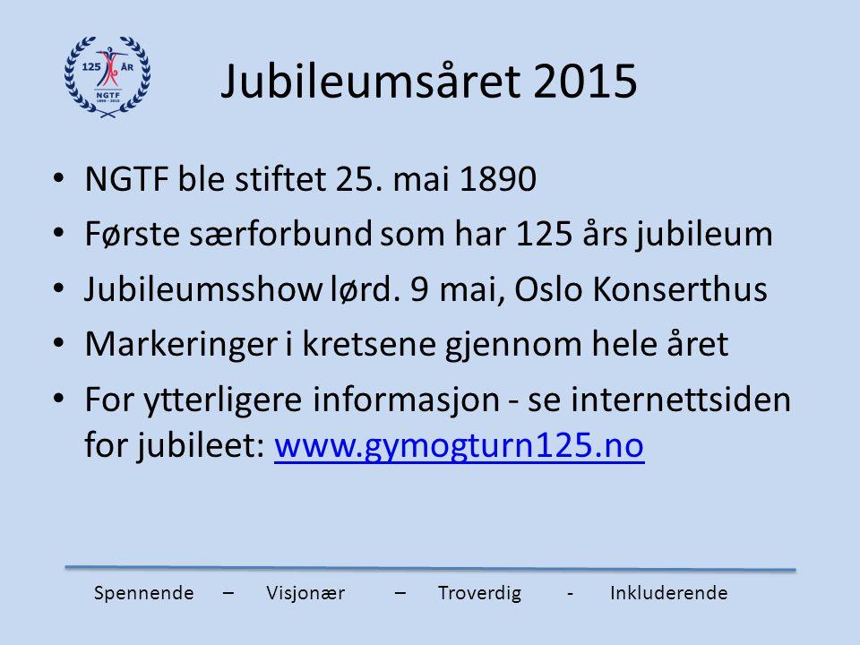 Jubileumsåret 2015 NGTF ble stiftet 25. mai 1890