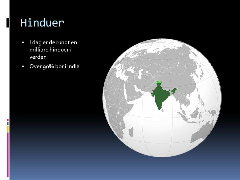 Hinduer I dag er de rundt en milliard hinduer i verden