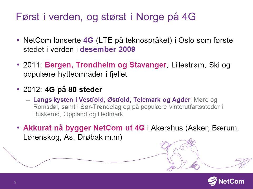 Først i verden, og størst i Norge på 4G