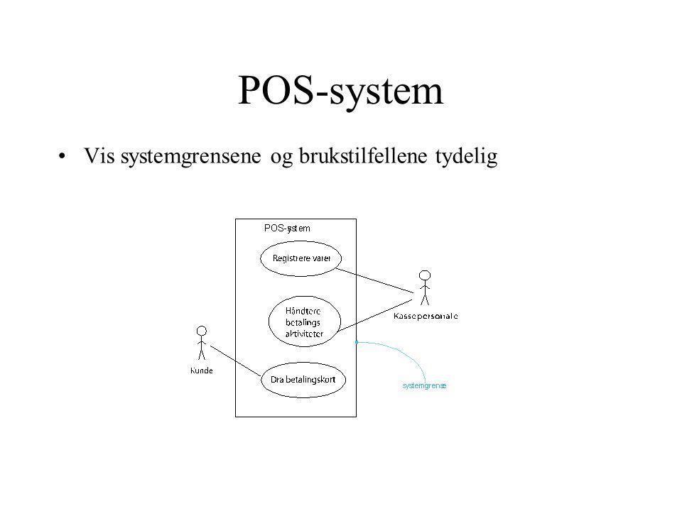 POS-system Vis systemgrensene og brukstilfellene tydelig