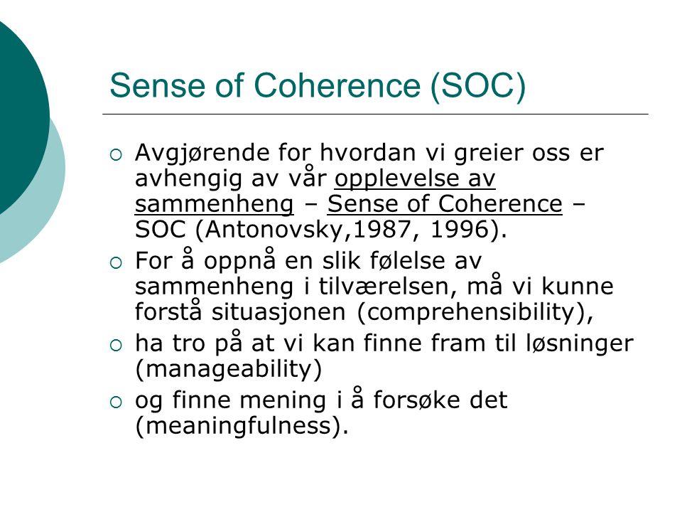 Sense of Coherence (SOC)