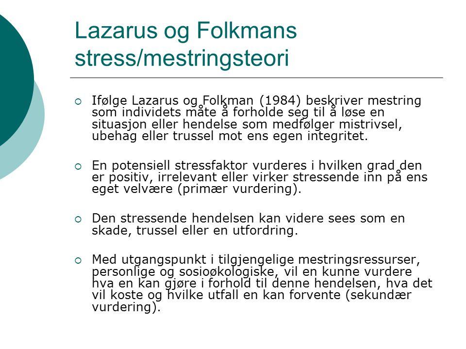 Lazarus og Folkmans stress/mestringsteori