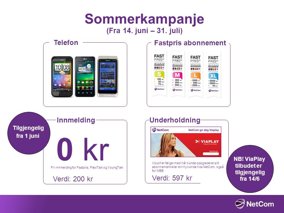 Sommerkampanje (Fra 14. juni – 31. juli)