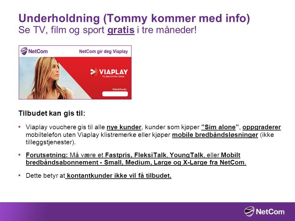 Underholdning (Tommy kommer med info) Se TV, film og sport gratis i tre måneder!