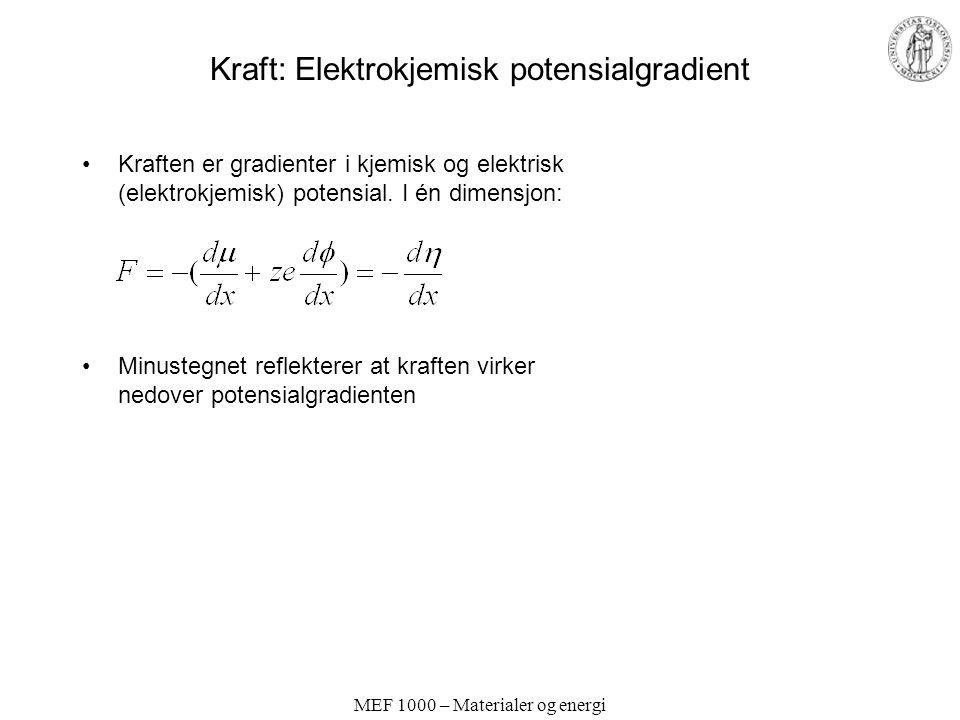 Kraft: Elektrokjemisk potensialgradient