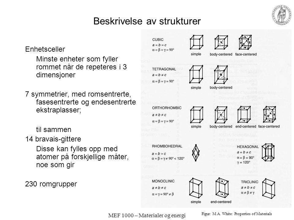Beskrivelse av strukturer