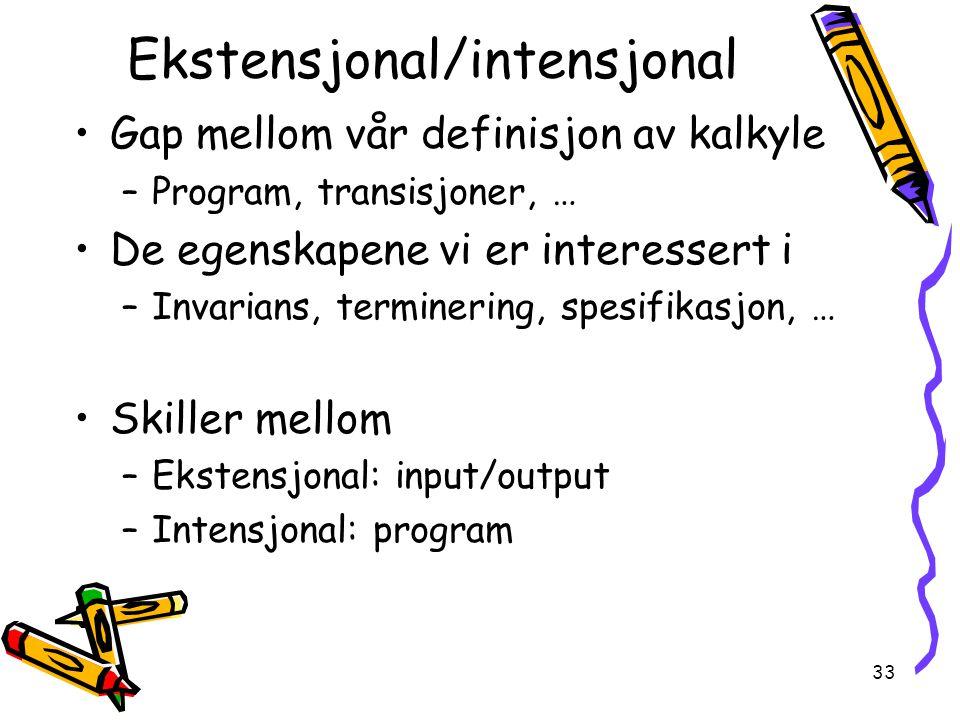 Ekstensjonal/intensjonal
