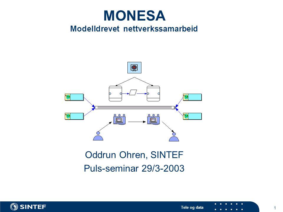 MONESA Modelldrevet nettverkssamarbeid
