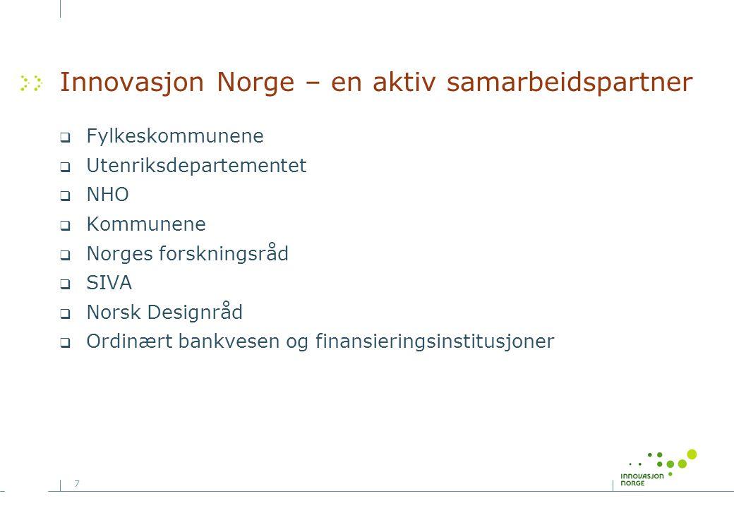 Innovasjon Norge – en aktiv samarbeidspartner