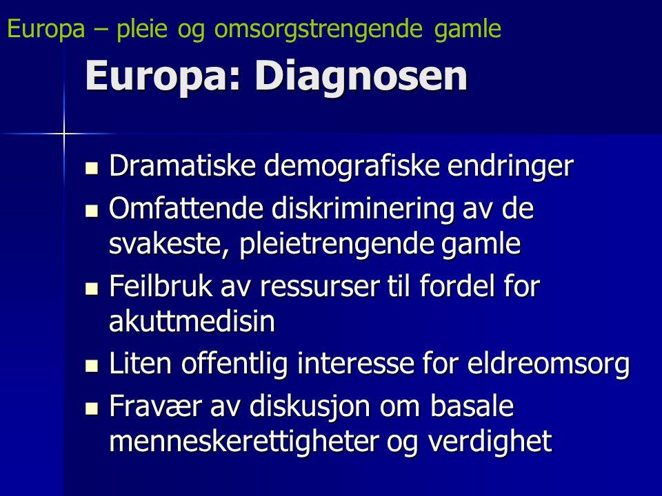 Europa: Diagnosen Dramatiske demografiske endringer