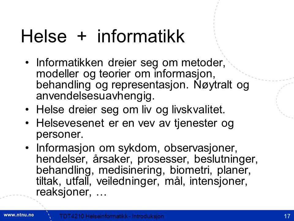 Helse + informatikk