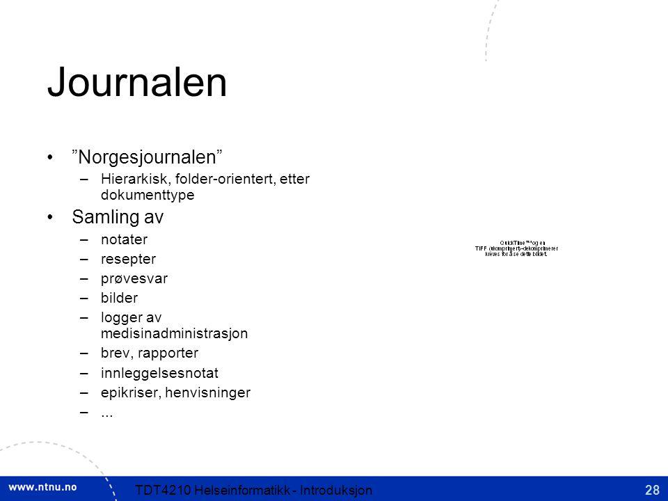 Journalen Norgesjournalen Samling av