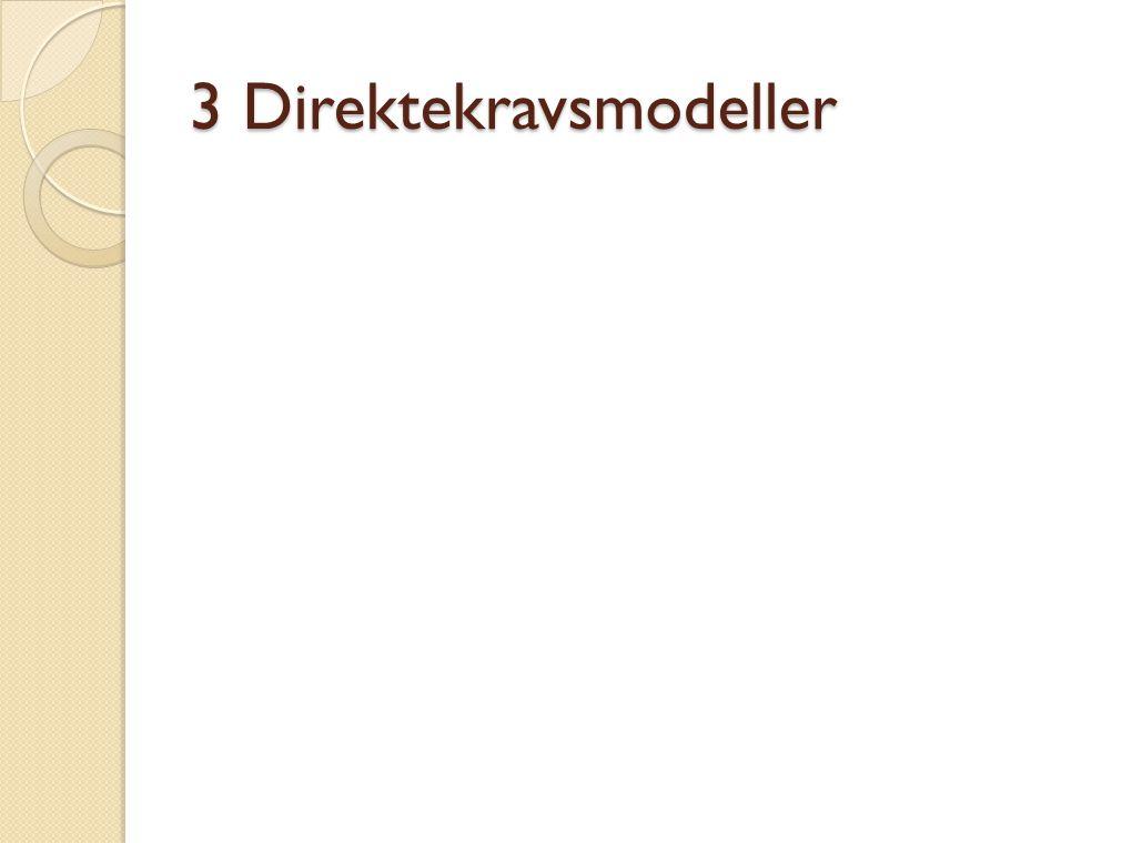 3 Direktekravsmodeller
