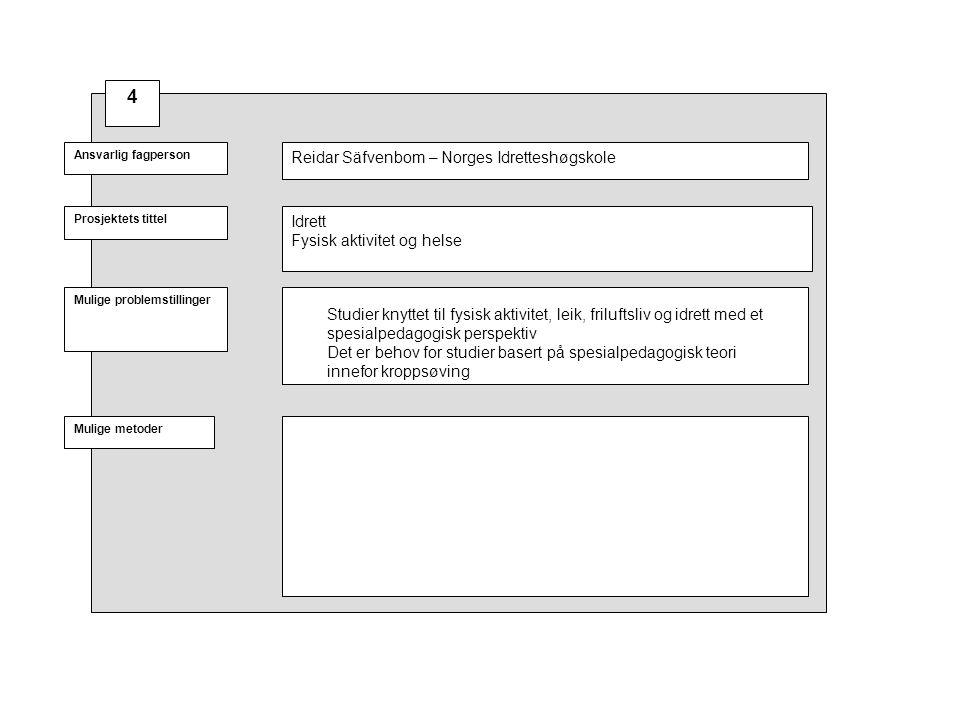 4 Reidar Säfvenbom – Norges Idretteshøgskole