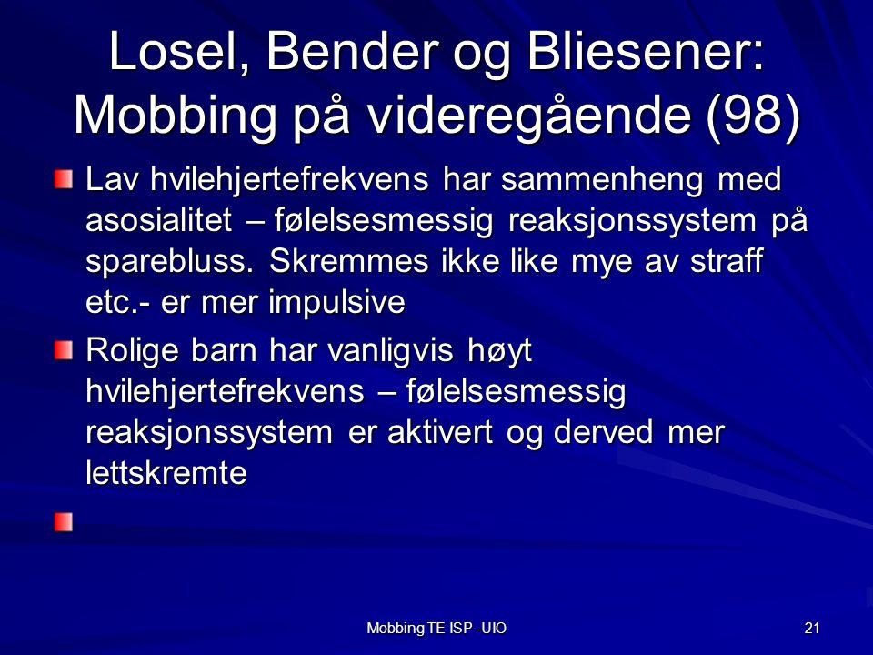 Losel, Bender og Bliesener: Mobbing på videregående (98)