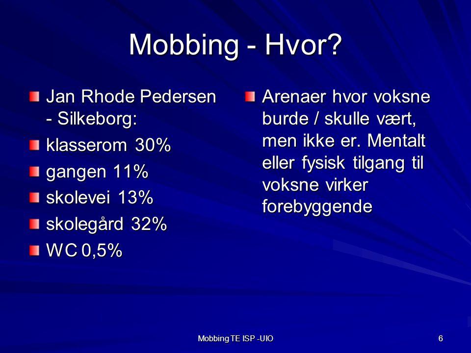 Mobbing - Hvor Jan Rhode Pedersen - Silkeborg: klasserom 30%