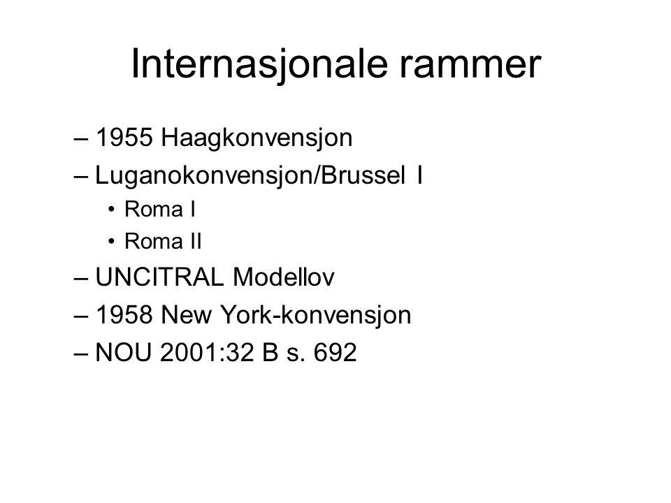 Internasjonale rammer