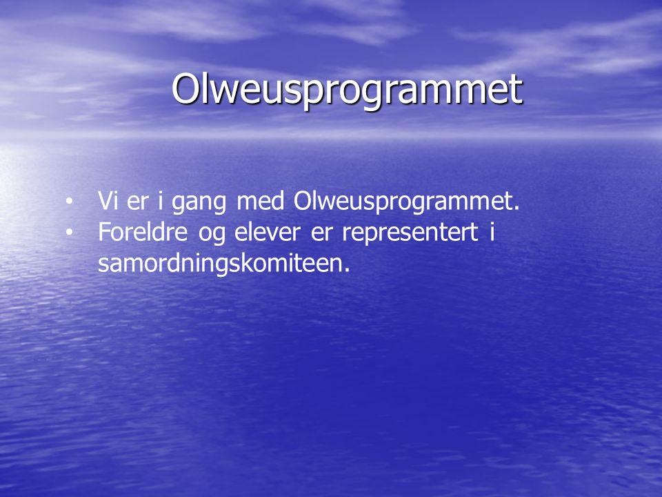 Olweusprogrammet Vi er i gang med Olweusprogrammet.