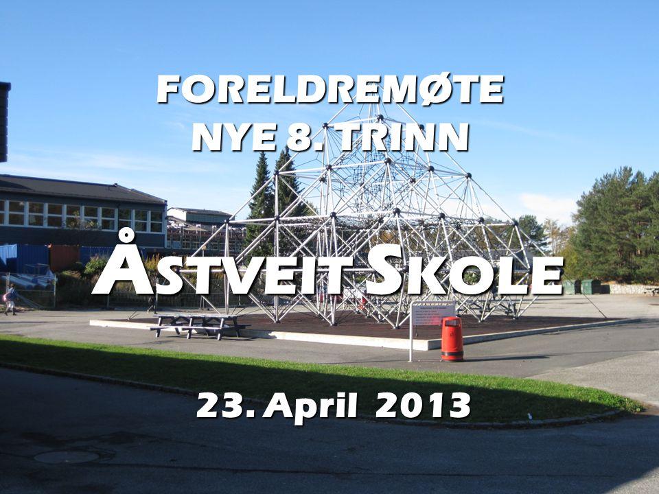 FORELDREMØTE NYE 8. TRINN ÅSTVEIT SKOLE 23. April 2013